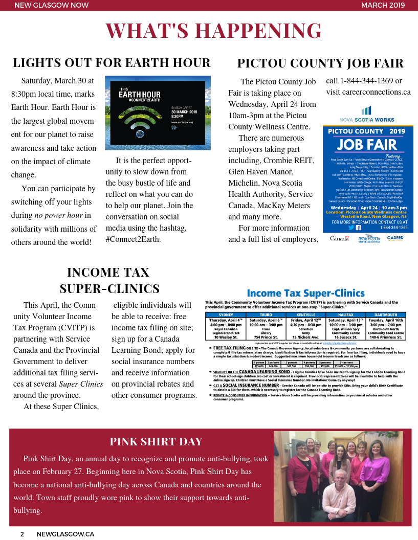 March 2019 Newsletter Page 2