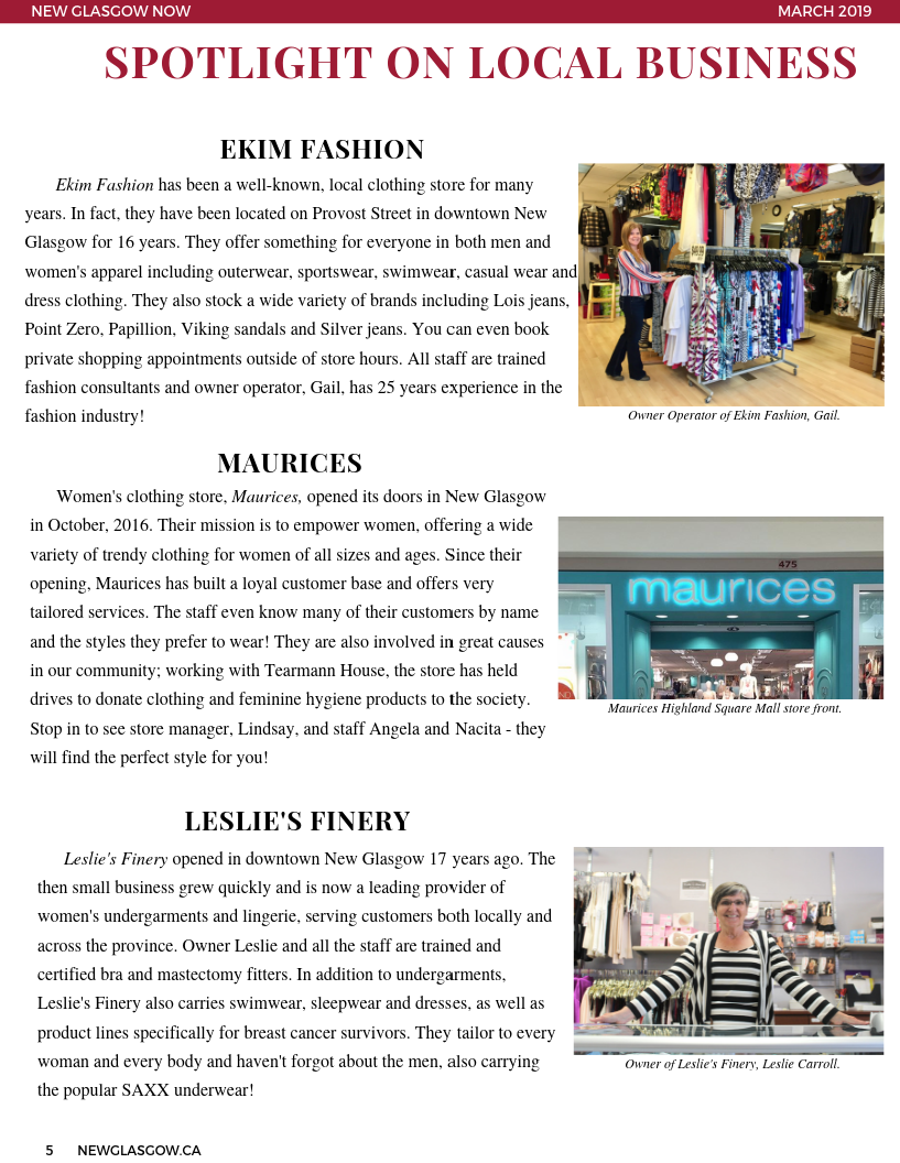 March 2019 Newsletter Page 5
